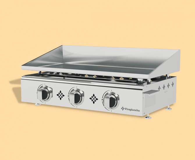Plancha gas grill PIMIENTOS - stainless steel, 3 burners