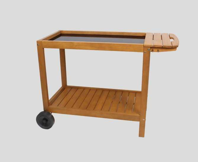 Chariot plancha XL en bois