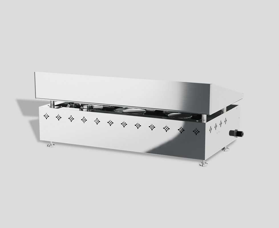 Plancha gas grill 3 burners in stainless steel Vivaplancha