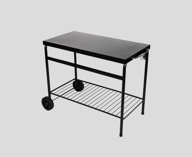 Plancha-Grilltisch aus Metall