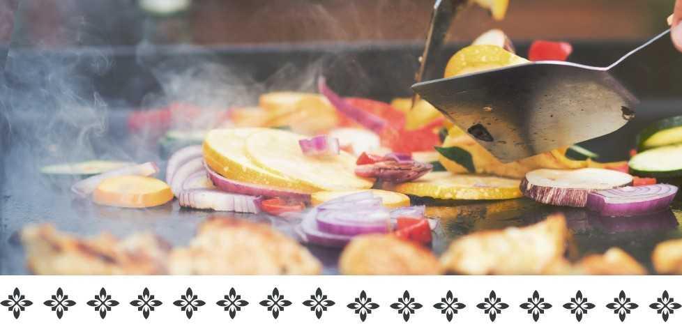 Ustensiles et spatules de cuisson pour plancha